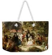 Highgate Fields During The Great Fire Of London In 1666 Weekender Tote Bag by Edward Matthew Ward