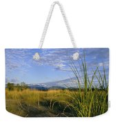 Hills Loom In The Distance Weekender Tote Bag