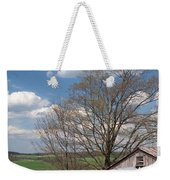 Hillside Weathered Barn Dramatic Spring Sky Weekender Tote Bag