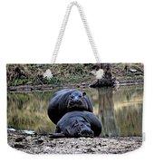 Hippos In Love Weekender Tote Bag