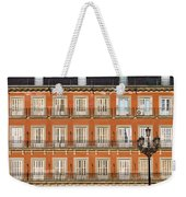 Historic Facade At Plaza Mayor In Madrid Weekender Tote Bag