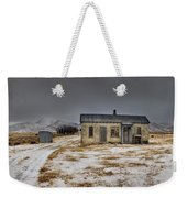 Historic Farm After Snowfall Otago New Weekender Tote Bag by Colin Monteath