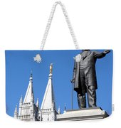 Historic Salt Lake Mormon Lds Temple And Brigham Young Weekender Tote Bag