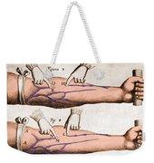 Historical Illustration Of Blood Vessels Weekender Tote Bag