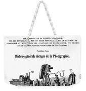 History Of Photography, 1847 Weekender Tote Bag