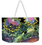 Hiv Three Sectioned Virions On Black Weekender Tote Bag