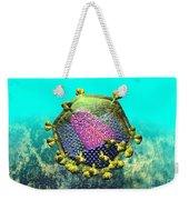 Hiv Virion Translucent On Blue Weekender Tote Bag