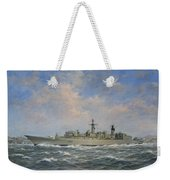 H.m.s. Chatham Type 22 - Batch 3 Weekender Tote Bag by Richard Willis