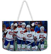 Hockey Art At Bell Center Montreal Weekender Tote Bag