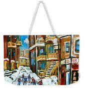 Hockey Art In Montreal Weekender Tote Bag