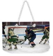 Hockey One On Four Weekender Tote Bag