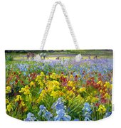 Hoeing Team And Iris Fields Weekender Tote Bag