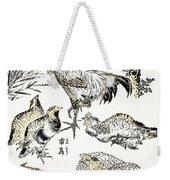 Hokusai: Birds Weekender Tote Bag