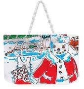 Holiday Dip Weekender Tote Bag
