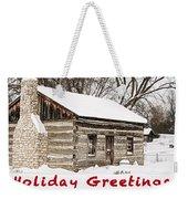 Holiday Greetings Weekender Tote Bag