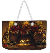 Holiday Hearth Weekender Tote Bag
