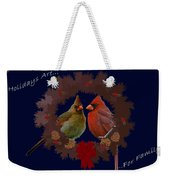 Holidays Are For Family Weekender Tote Bag