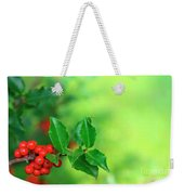 Holly Branch Weekender Tote Bag