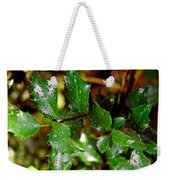 Holly Daze Dew Drops Weekender Tote Bag