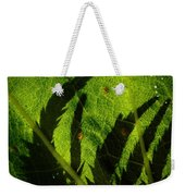 Holly Hock Foliage Weekender Tote Bag