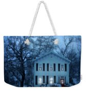 Home On A Wintery Evening Weekender Tote Bag