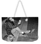 Homeless With Faithful Companion Weekender Tote Bag by Kristin Elmquist