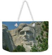 Honest Abe In Stone Weekender Tote Bag