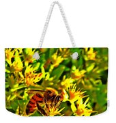 Honey Bee And Sedum  Weekender Tote Bag