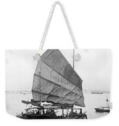 Hong Kong Harbor - Chinese Junk Boat - C 1907 Weekender Tote Bag