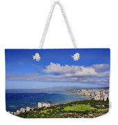 Honolulu From Diamond Head Weekender Tote Bag