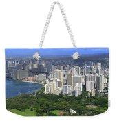 Honolulu Hawaii And Waikiki Beach Weekender Tote Bag