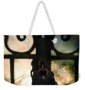 Hooded Figure By A Fire Weekender Tote Bag
