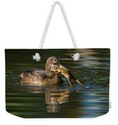 Hooded Merganser And Bullfrog Weekender Tote Bag