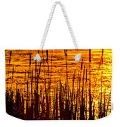 Horicon Cattail Marsh Wisconsin Weekender Tote Bag by Steve Gadomski