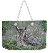 Horned Owl Weekender Tote Bag