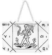 Horoscope Types, Engel, 1488 Weekender Tote Bag by Science Source