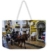 Horse And Buggy In Old Cartagena Colombia Weekender Tote Bag