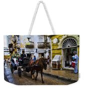 Horse And Buggy In Old Cartagena Colombia Weekender Tote Bag by David Smith