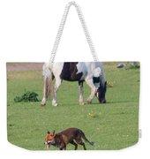 Horse And Fox Weekender Tote Bag