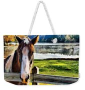 Horse At Lake Leroy Weekender Tote Bag
