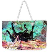 Horse Born Of Earth Water Sky Weekender Tote Bag by Carol Law Conklin