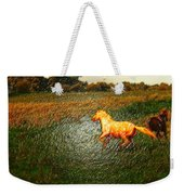 Horse Frolicking Weekender Tote Bag