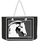 Horse In Black And White Weekender Tote Bag