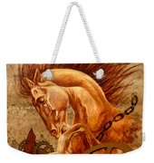 Horse Jewels Weekender Tote Bag by Lena Day
