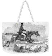 Horse-jumping, 1852 Weekender Tote Bag