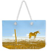 Horse Pasture Revblue Weekender Tote Bag