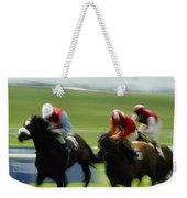Horse Racing, Ireland Jockeys Racing Weekender Tote Bag