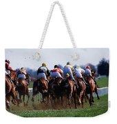 Horse Racing Rear View Of Horses Racing Weekender Tote Bag