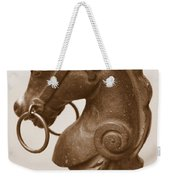 Horse Tether In New Orleans - Sepia Weekender Tote Bag