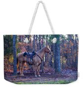 Horse Waiting For Rider Weekender Tote Bag